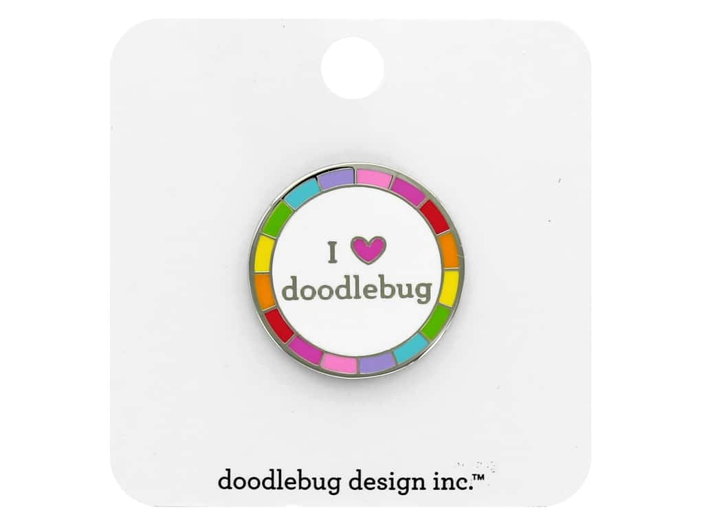 Doodlebug Embellishment I Heart Doodlebug Collectible Pin