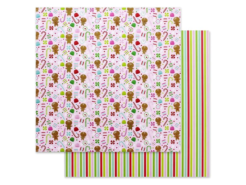 """Doodlebug Night Before Christmas Paper 12""""x 12"""" Dancing Sugarplums (25 pieces)"""