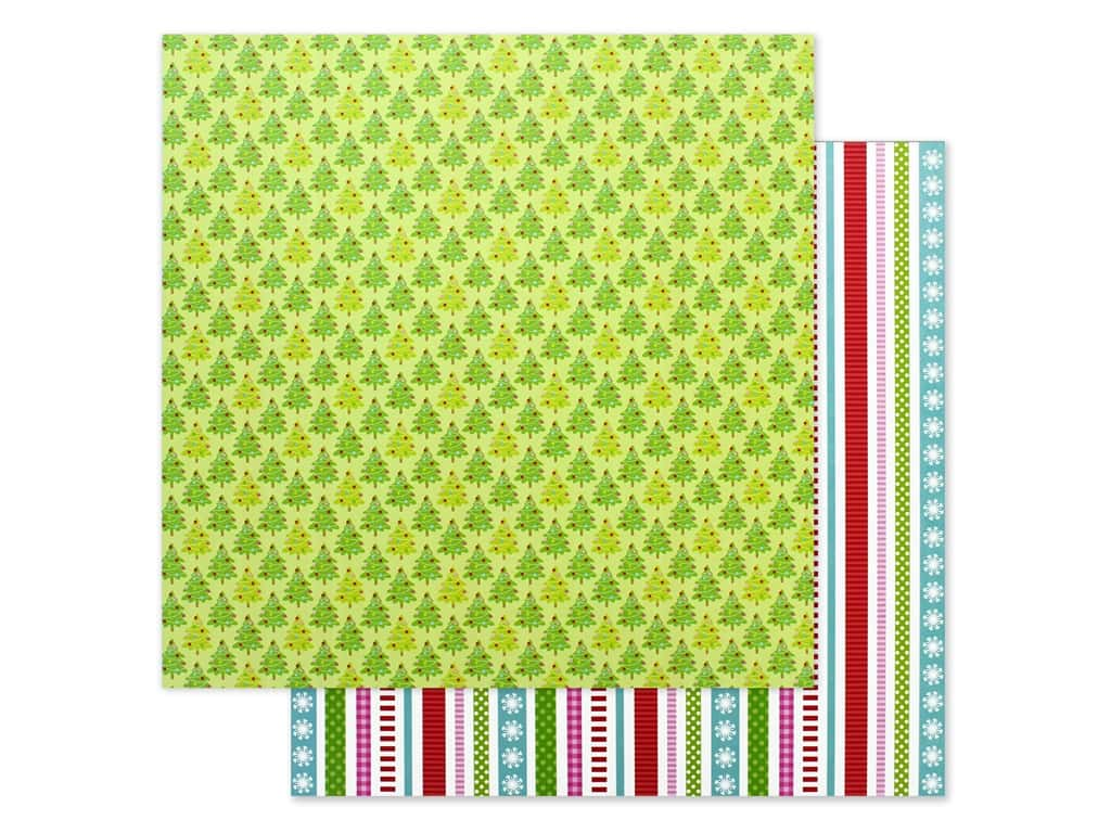 """Doodlebug Night Before Christmas Paper 12""""x 12"""" Tinsel Time (25 pieces)"""