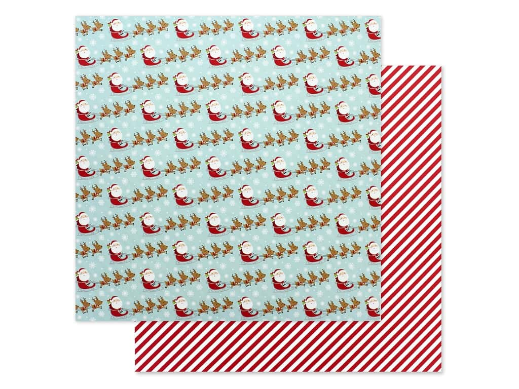 Doodlebug Night Before Christmas Paper 12 in. x 12 in. Dash Away (25 pieces)
