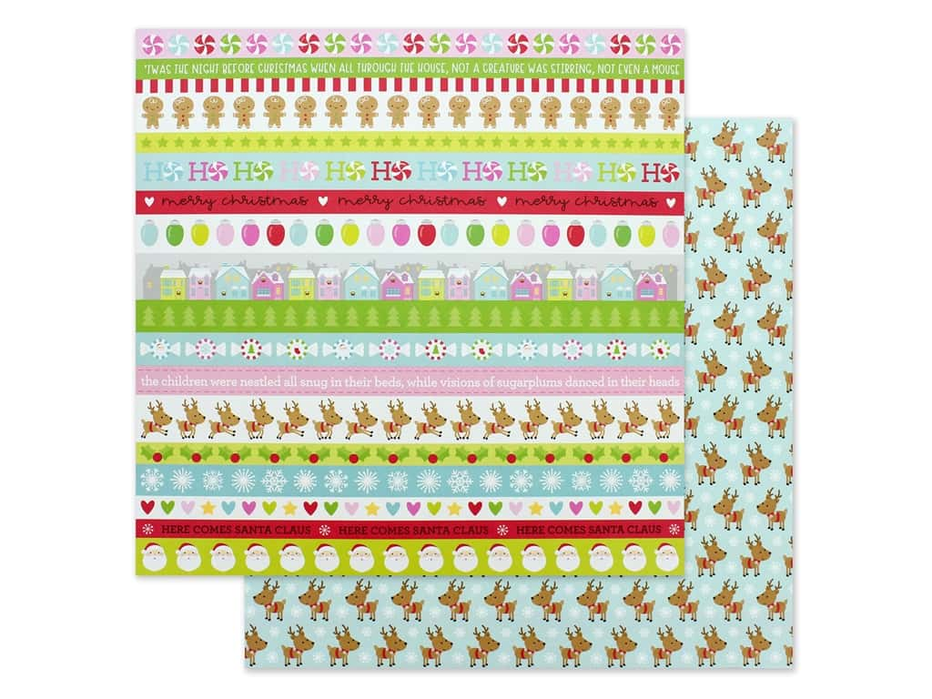 Doodlebug Night Before Christmas Paper 12 in. x 12 in. Dasher & Co. (25 pieces)