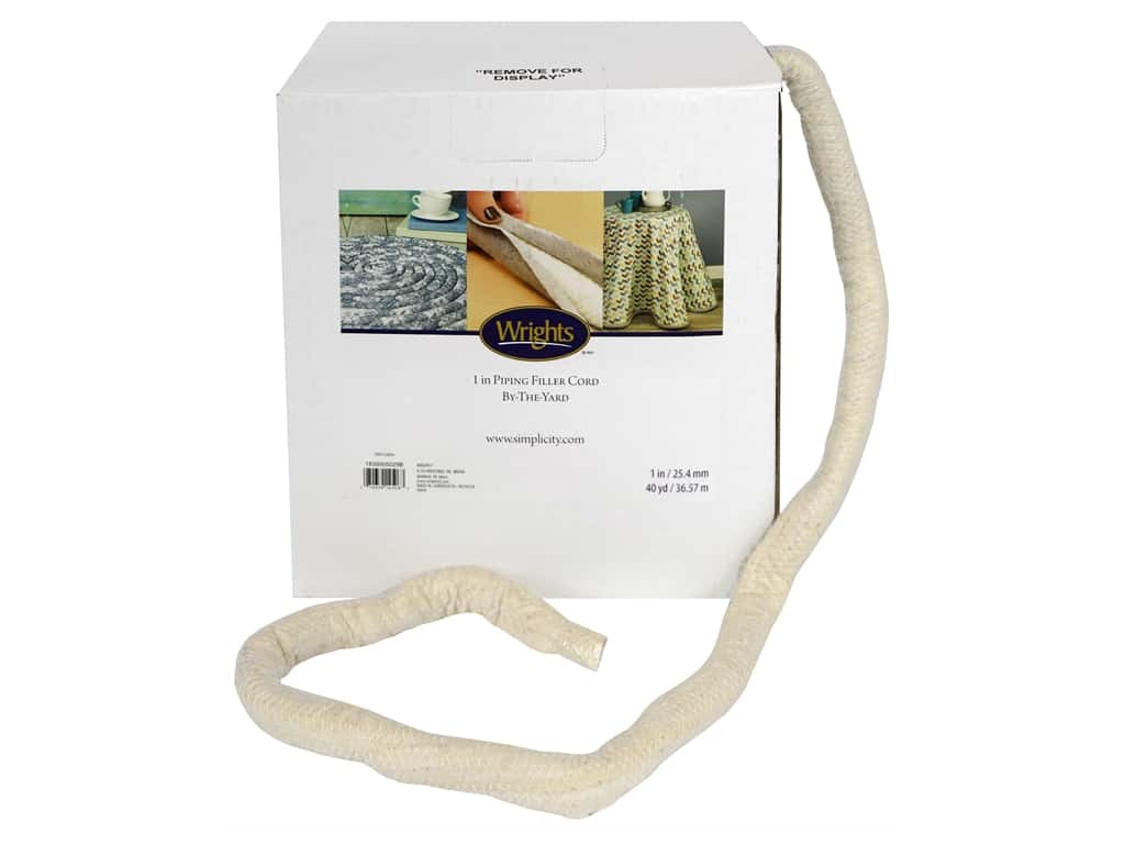 Wrights Cotton Piping Cord 1 in. x 40 yd. Natural (40 yards)