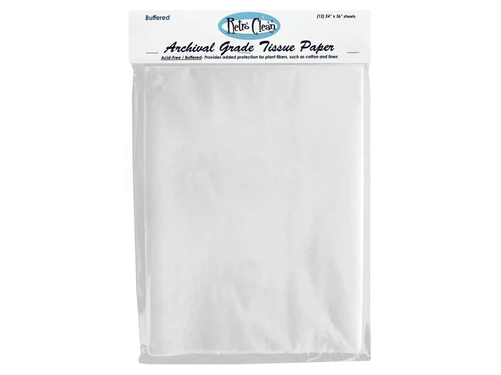 "Retro Clean Acid Free Tissue 24""x 36"" Buffered 12pc"