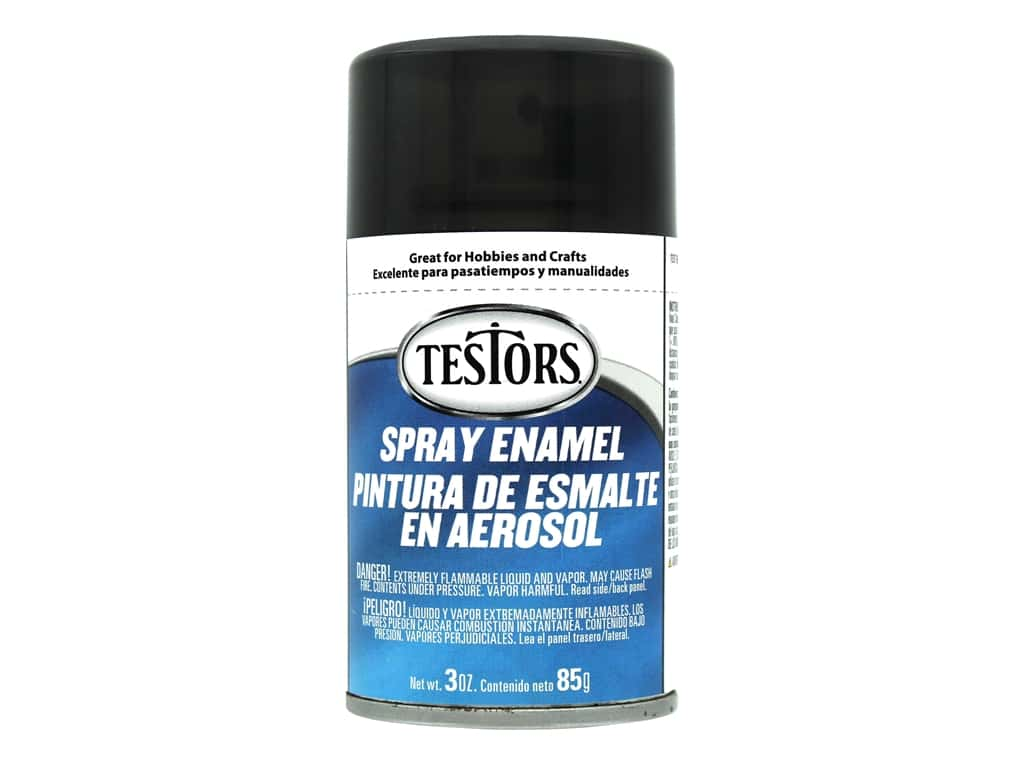 Testors Enamel Spray Paint Transparent Custom Black 3oz