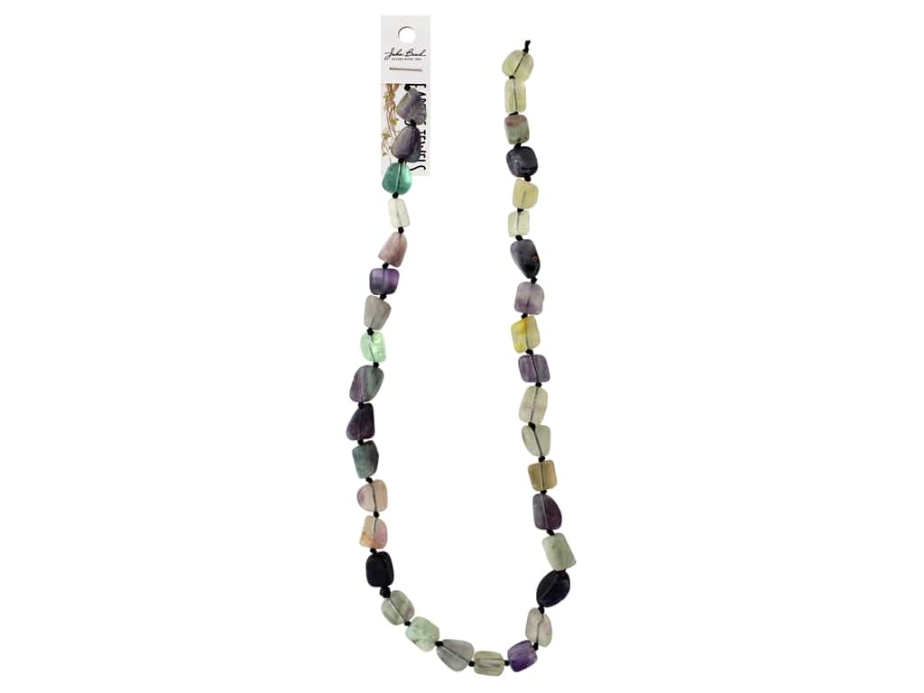John Bead Semi Precious Bead Earth Jewels 8-15mm Irregular Fluorite 16""