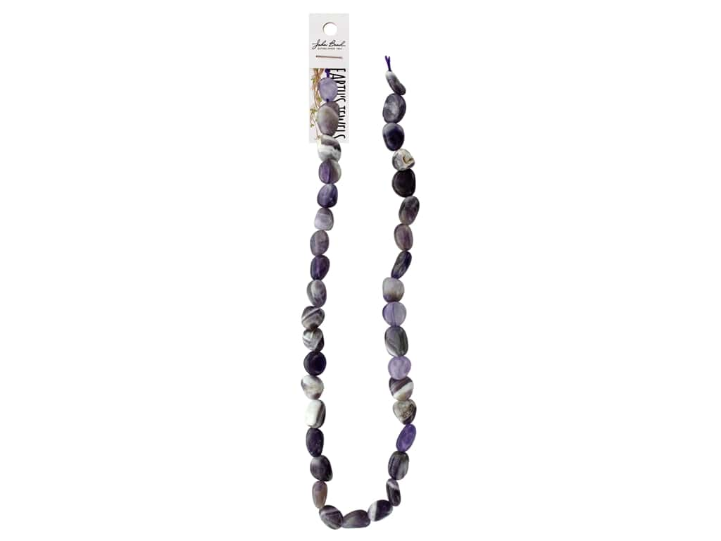 John Bead Semi Precious Bead Earth Jewels 8-15mm Irregular Amethyst 16""