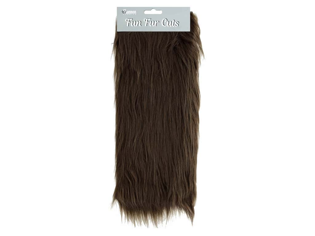 "Shannon Fun Fur Cuts 9""x 12"" Long Pile Brown"
