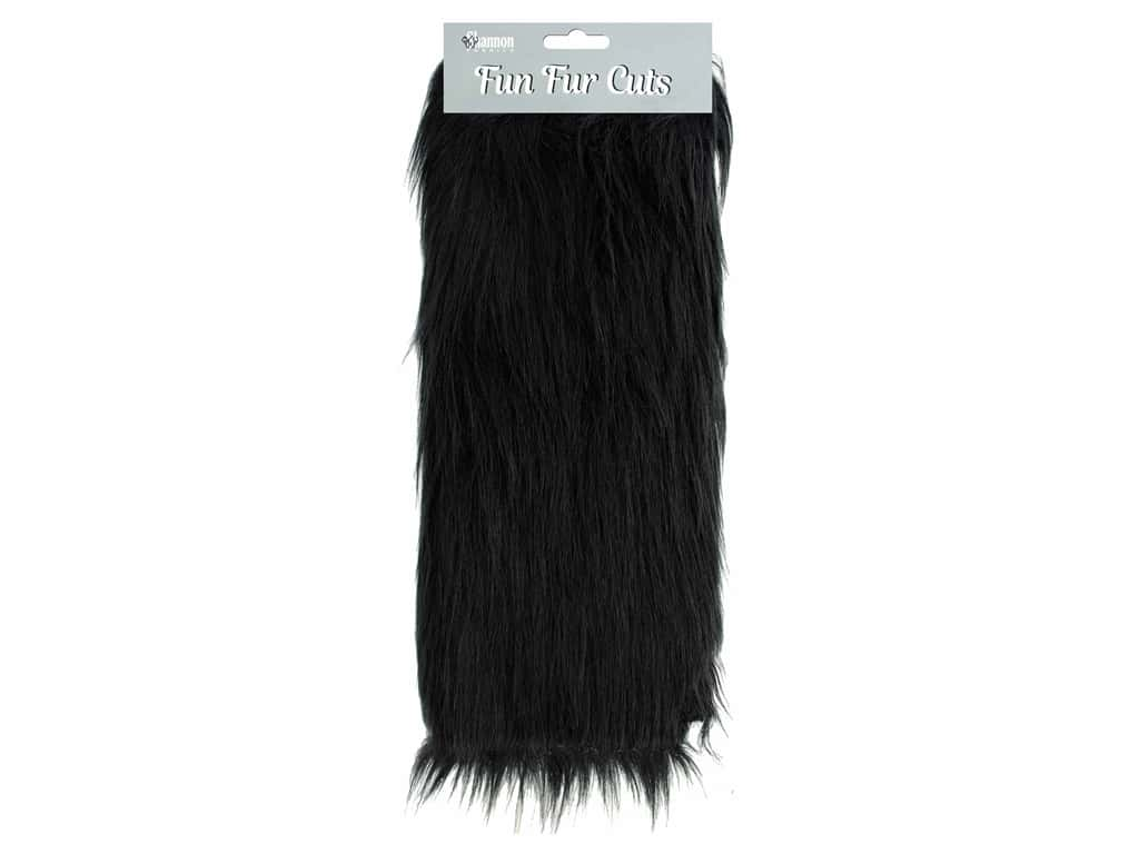 "Shannon Fun Fur Cuts 9""x 12"" Long Pile Black"