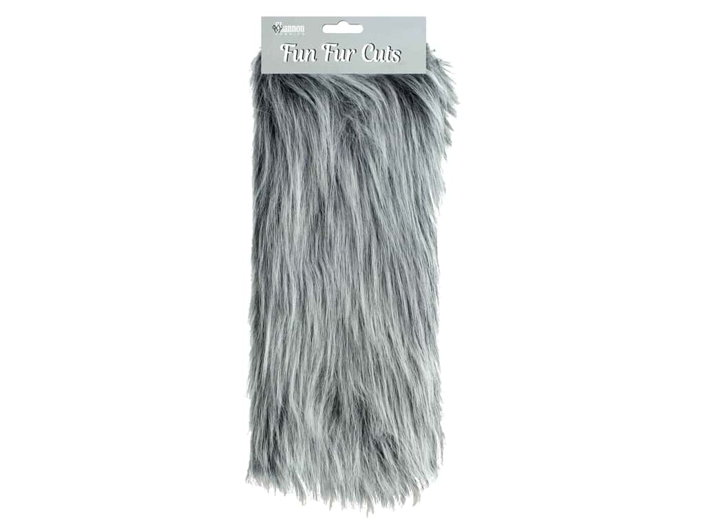 "Shannon Fun Fur Cuts 9""x 12"" Long Pile Grey Frost"