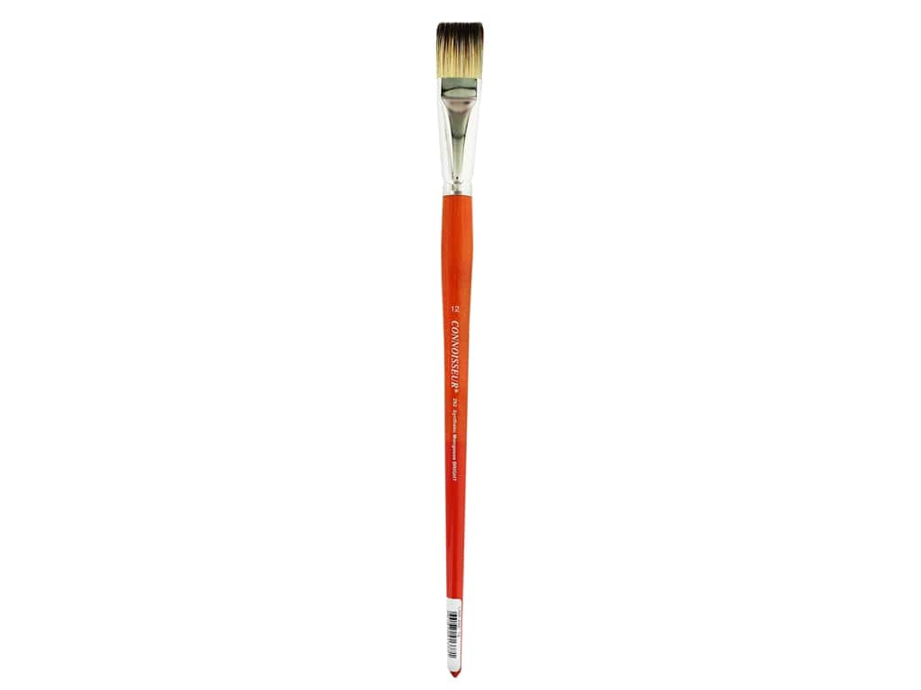 Connoisseur Synthetic Mongoose Brush Long Handle Bright #12