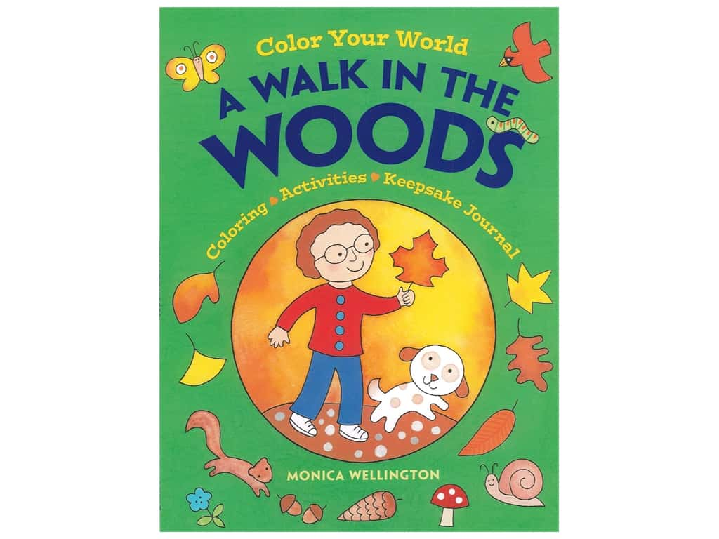 Dover Publications Color Your World A Walk In The Woods Coloring Activities & Keepsake Journal Book