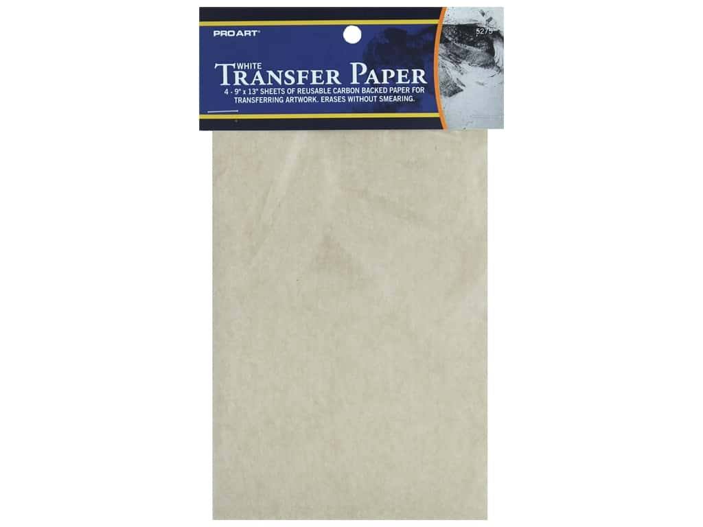 Pro Art Carbon Transfer Paper - 9 x 13 in. White 4 pc.