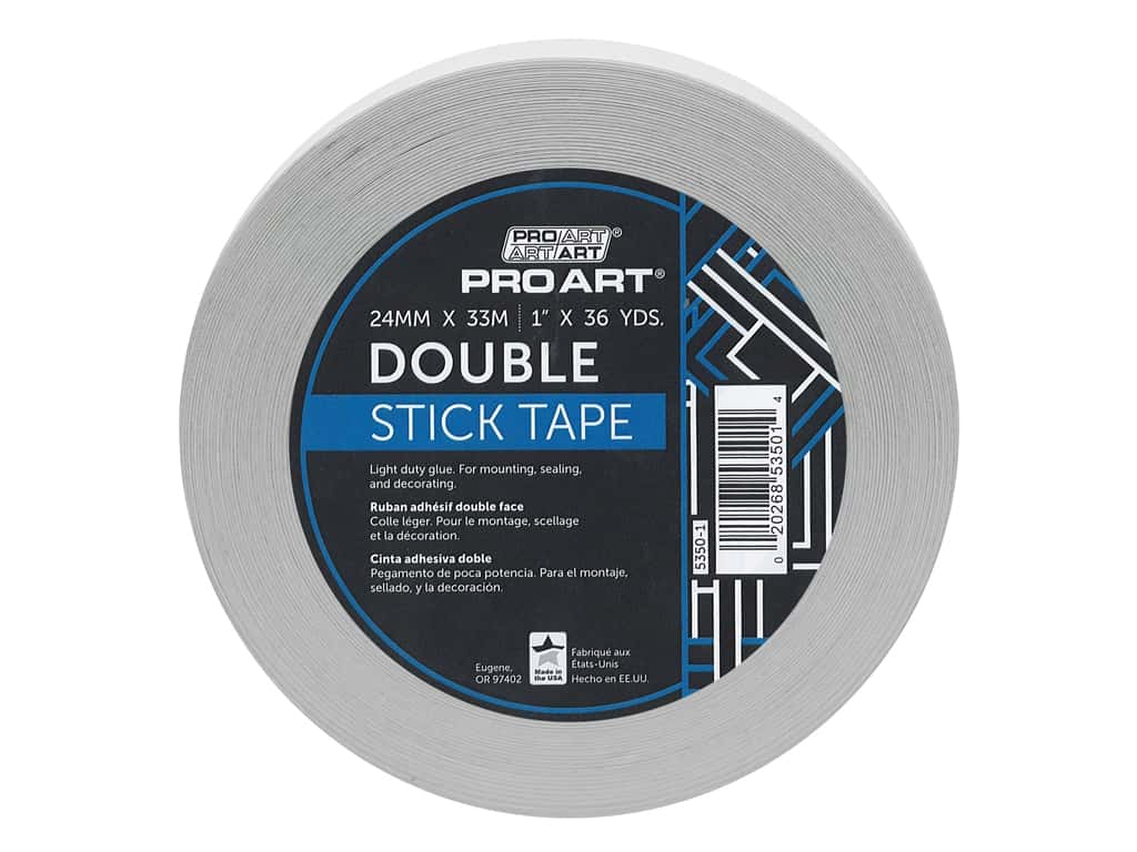 Pro Art Tape Double Stick Adhesive 1 in. x 36 yd