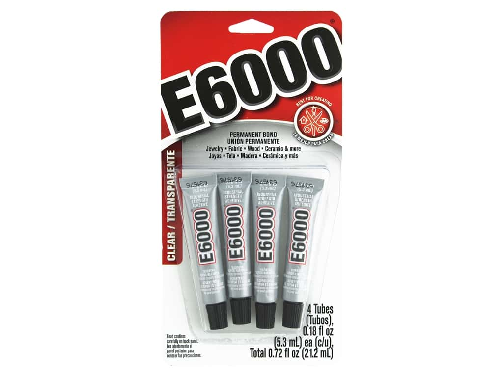 Eclectic E6000 Adhesive 0.18 oz. 4 pc. Clear