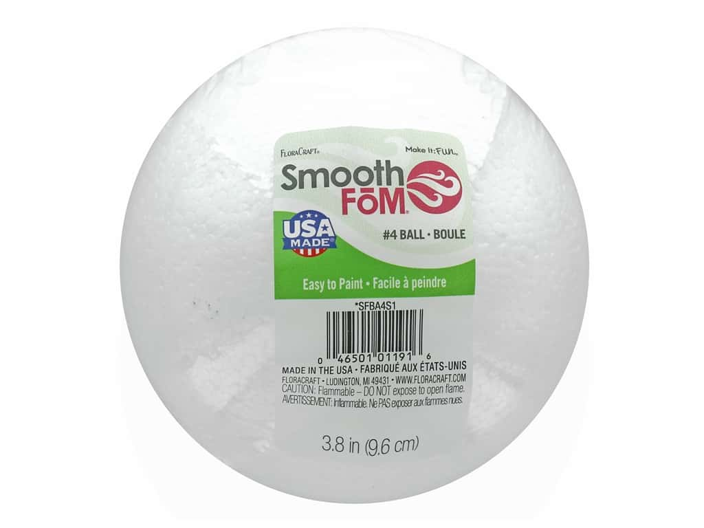 FloraCraft Smooth Foam Ball 4 in. 1 pc.