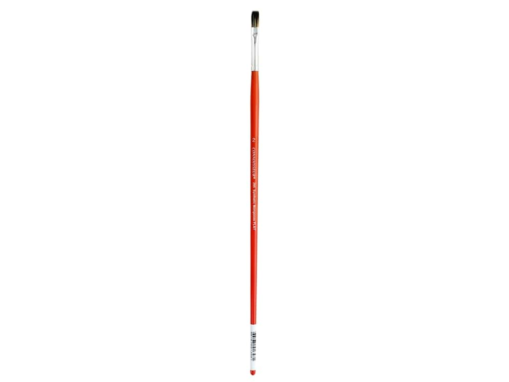 Connoisseur Synthetic Mongoose Brush Long Handle Flat #2