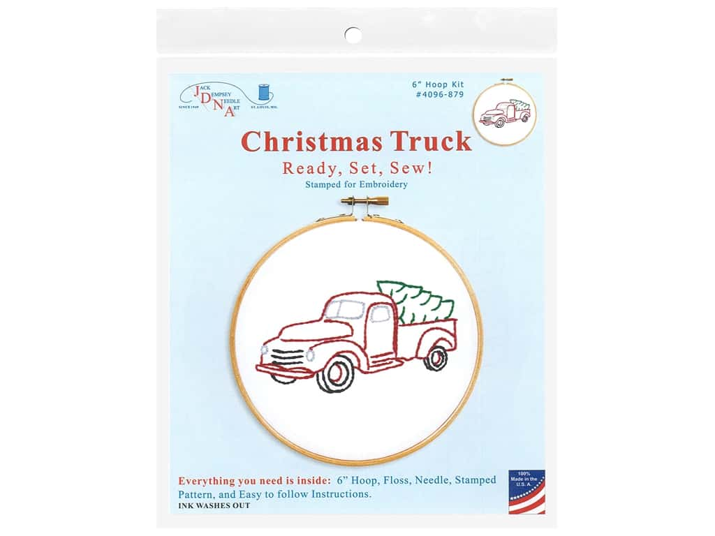 Jack Dempsey 6 in. Hoop Kit - Christmas Truck