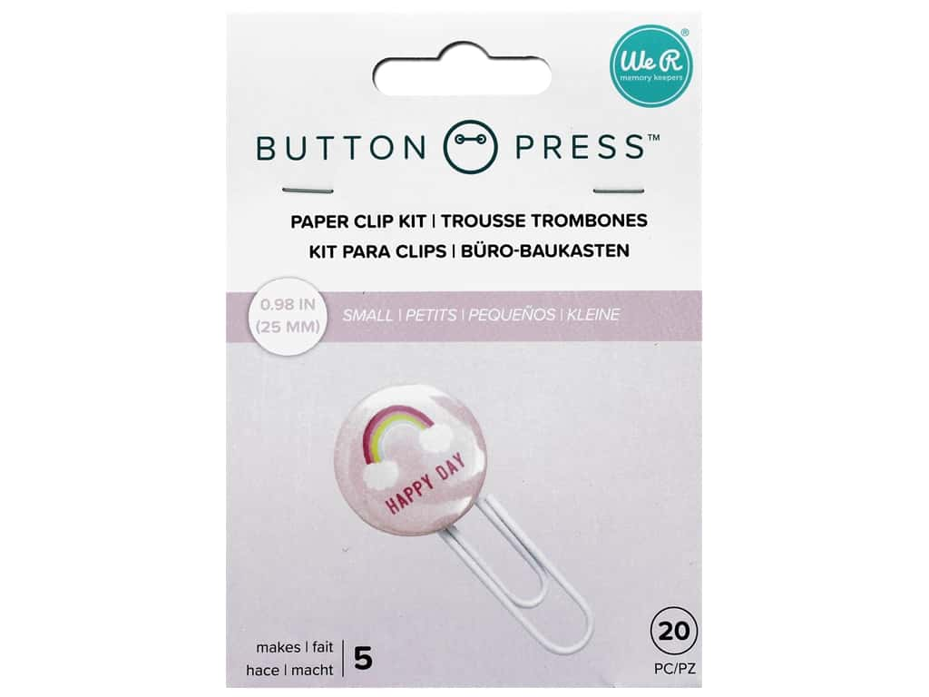 We R Memory Button Press Paper Clip Backers