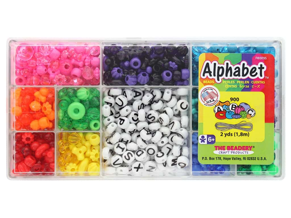 The Beadery Alphabet Bead Box School Days