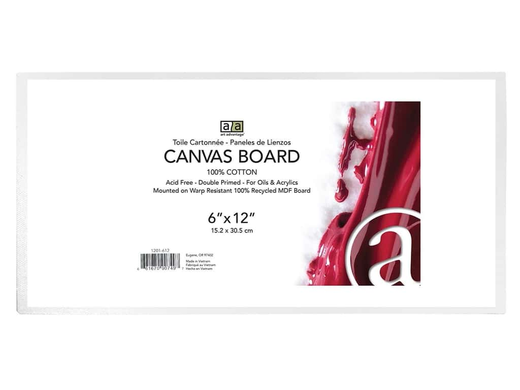 Art Advantage Canvas Board - 6 x 12 in.