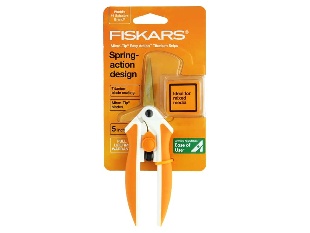 Fiskars No. 5 Titanium Micro-Tip Easy Action Scissors