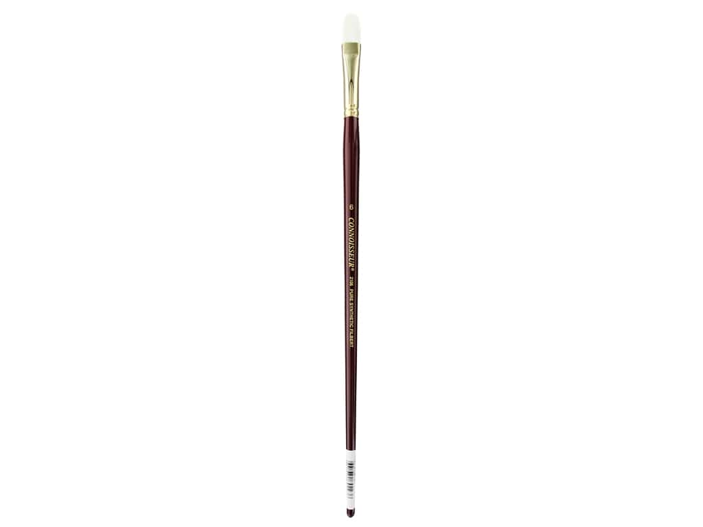 Connoisseur Pure Synthetic Bristle Brush Long Handle Filbert #6