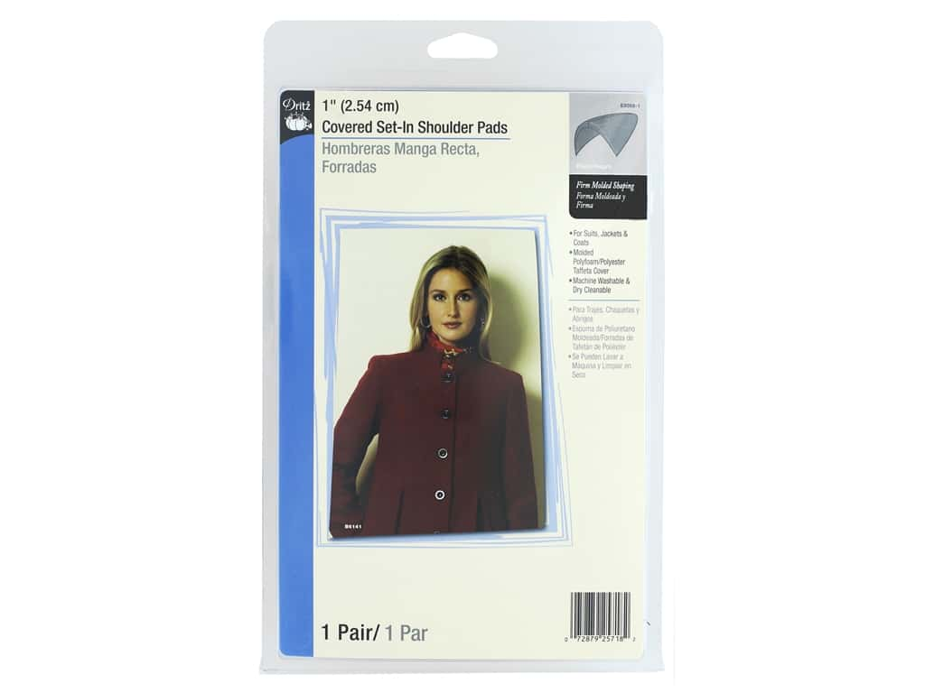 Dritz Covered Set-In Shoulder Pads 1 in. Black