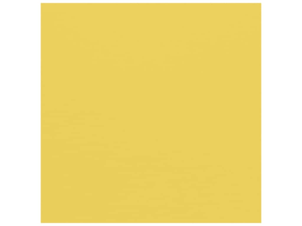American Crafts 12 x 12 in. Cardstock - Textured Lemon (25 sheets)
