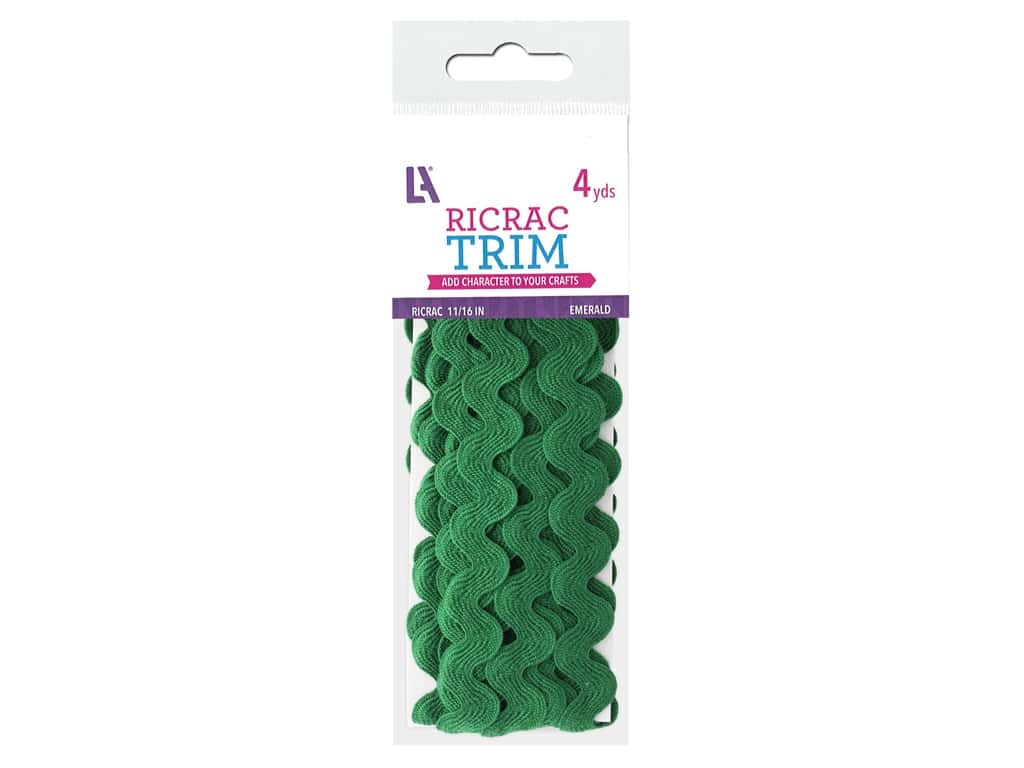 Leisure Arts Trim Ric Rac 11/16 in.  4 yd Emerald