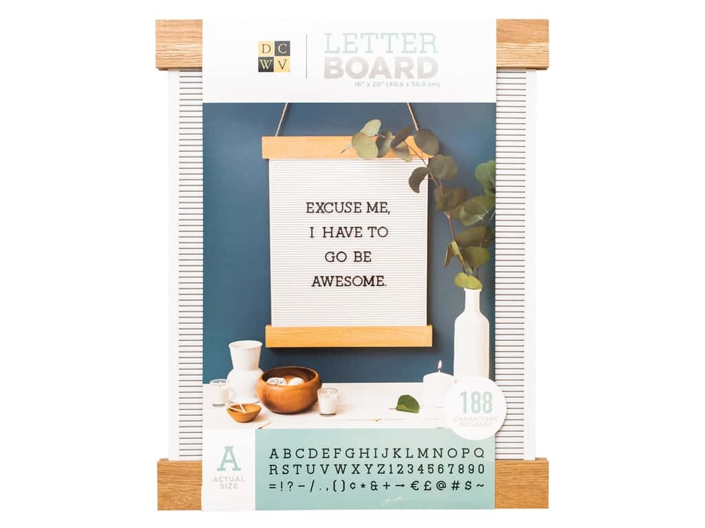 """DieCuts With A View With A View Collection Letterboard Frame 16""""x 20"""" With 1"""" Letters Black"""