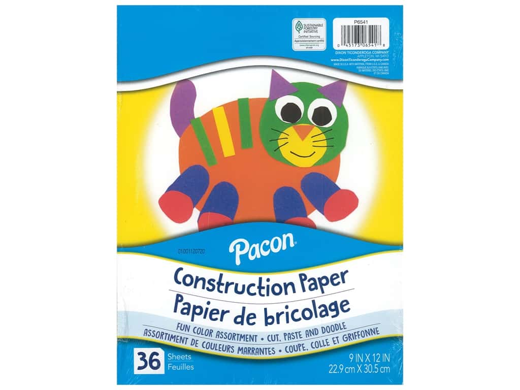 Pacon Construction Paper 9 in. x 12 in. 36 pc Assorted