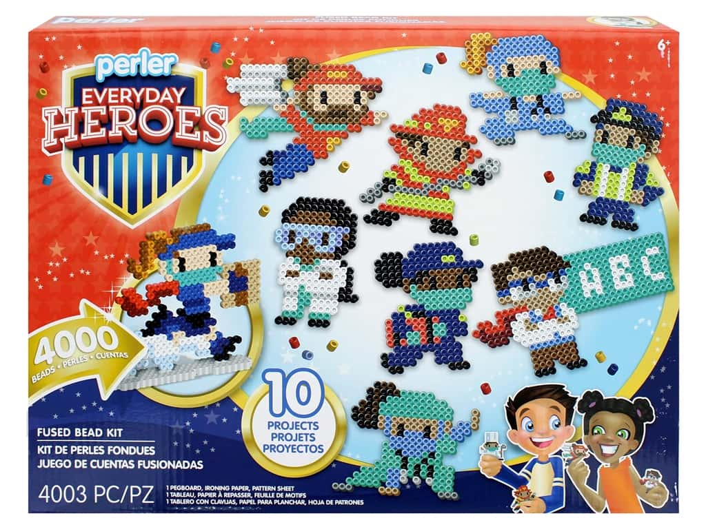 Perler Fused Bead Kit Box Everyday Heroes 4000 pc
