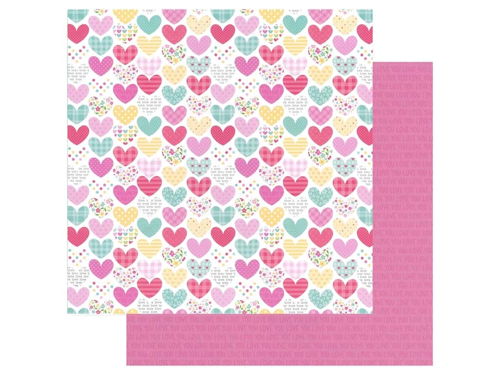 Doodlebug Collection Made With Love Paper 12 in. x 12 in. Heartwarmer (25 pieces)