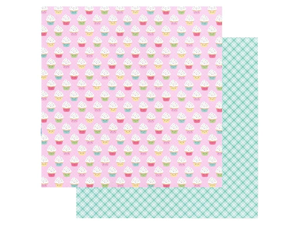 Doodlebug Collection Made With Love Paper 12 in. x 12 in. Cupcake Cuties (25 pieces)