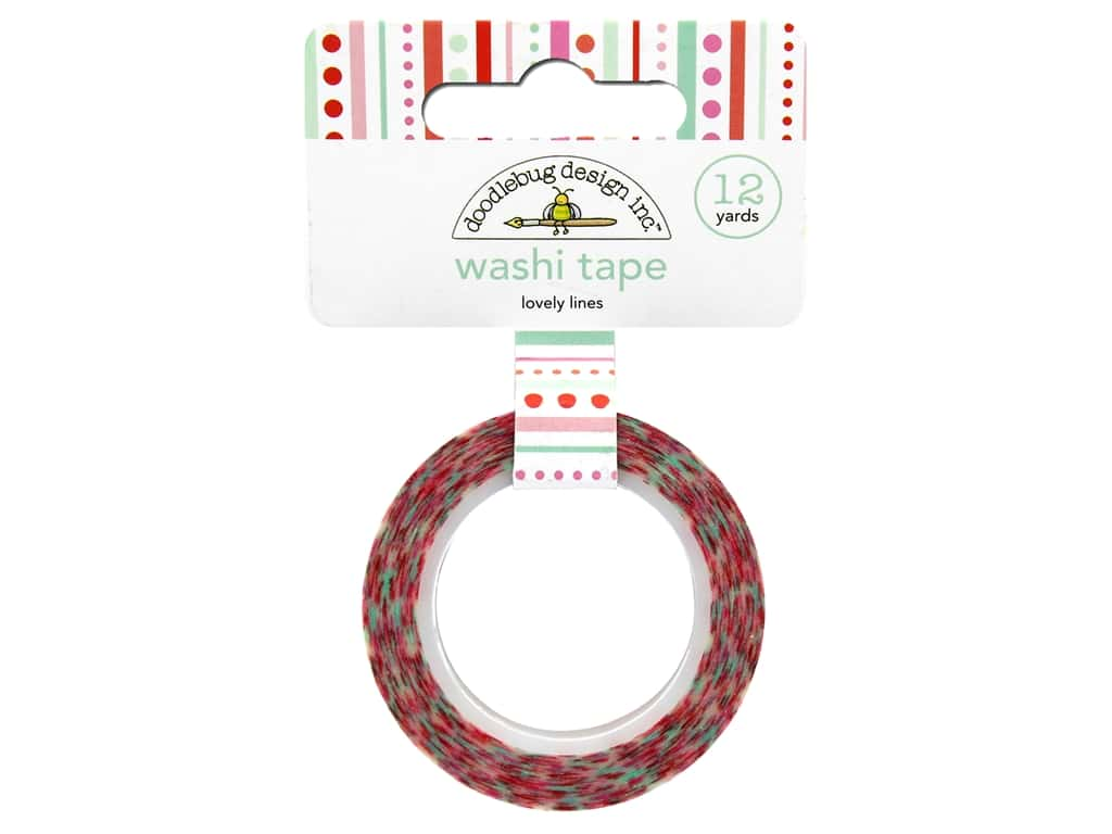 Doodlebug Washi Tape 5/8 in. x 12 yd. Sweet Things Lovely Lines