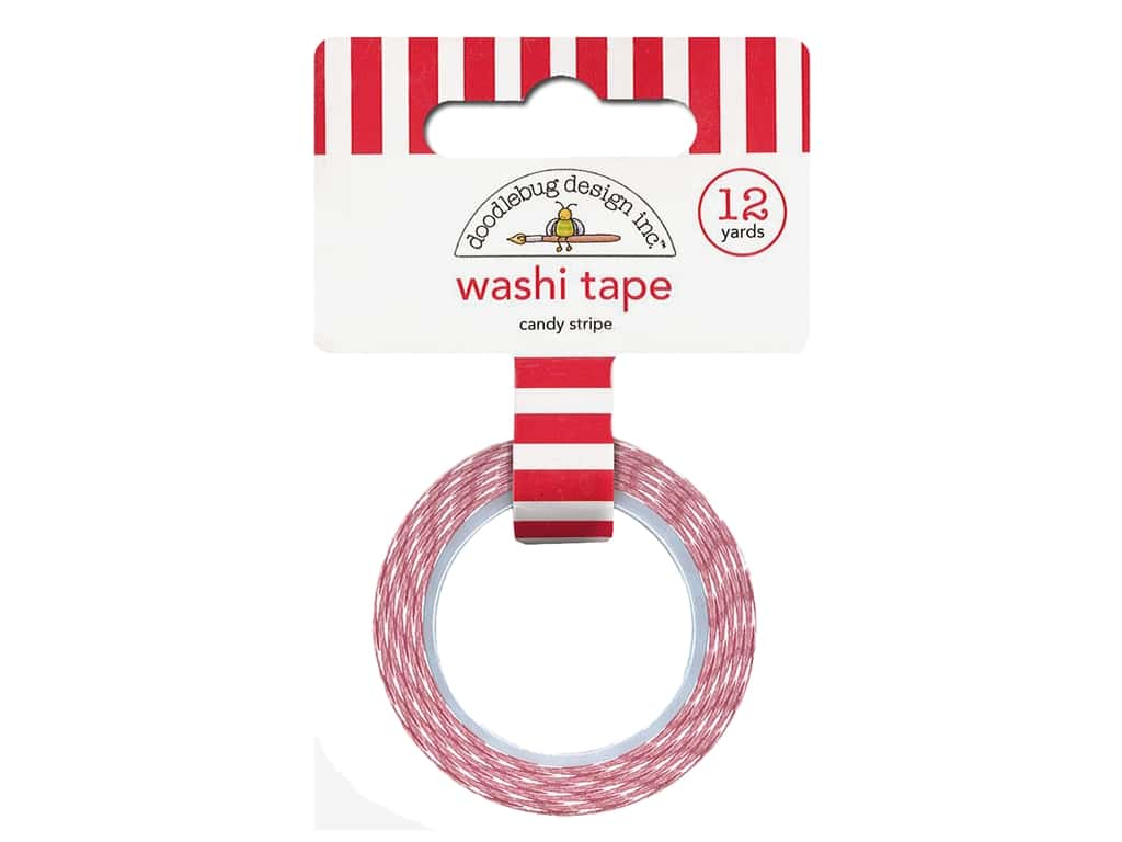 Doodlebug Collection Christmas Magic Washi Tape Candy Stripe