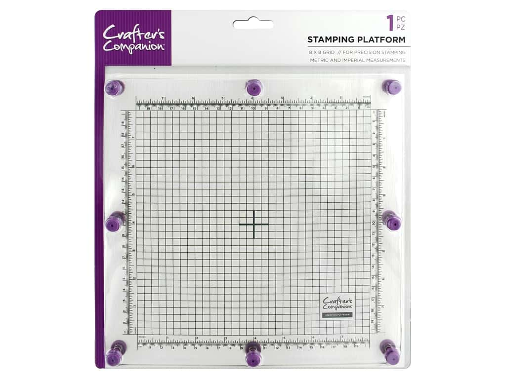 """Crafter's Companion Tools Stamping Platform 8""""x 8"""" 1pc"""