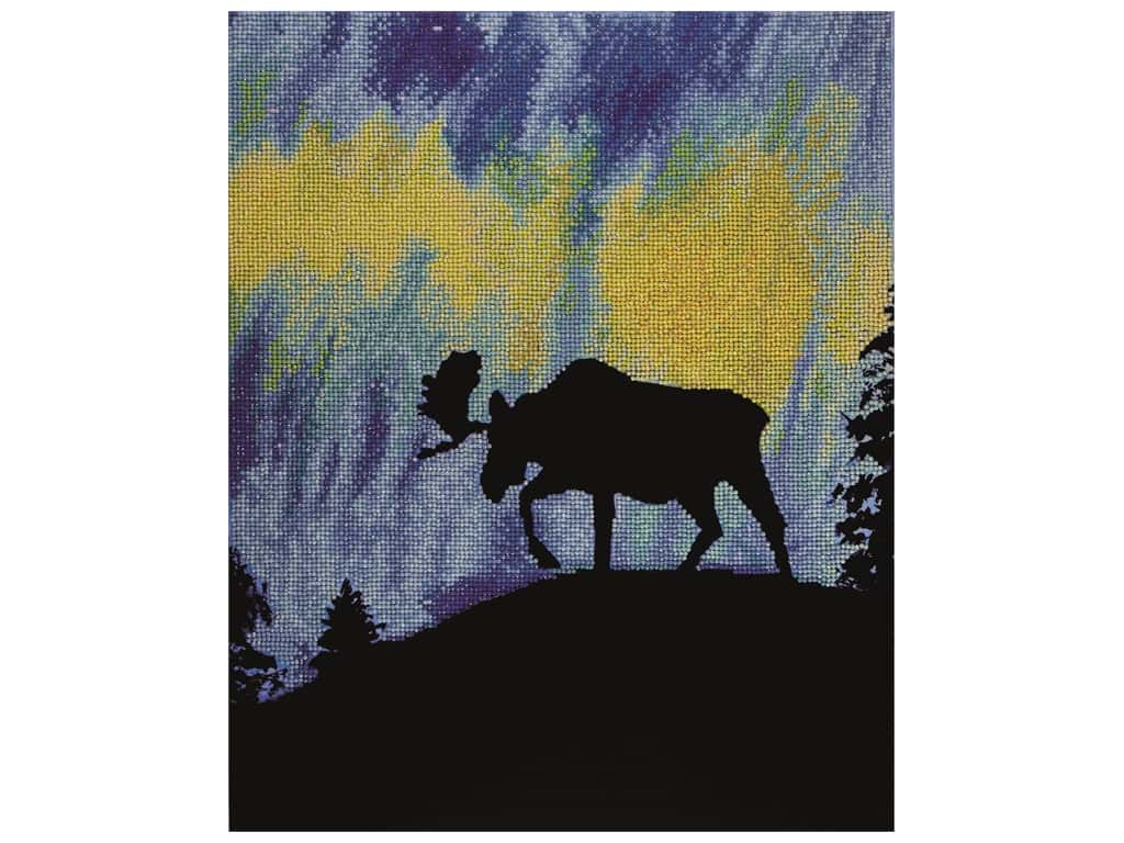 Diamond Art Kit 16 in. x 20 in. Sparkle Advanced Aurora Moose