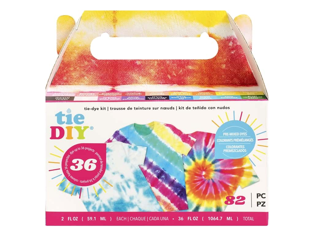 American Crafts Tie DIY Tie-Dye Kit - Value Kit 82 pc.
