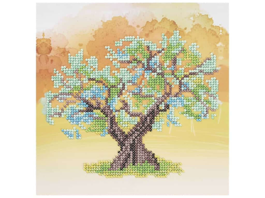 Diamond Art Beginner Kit - Yellow Tree
