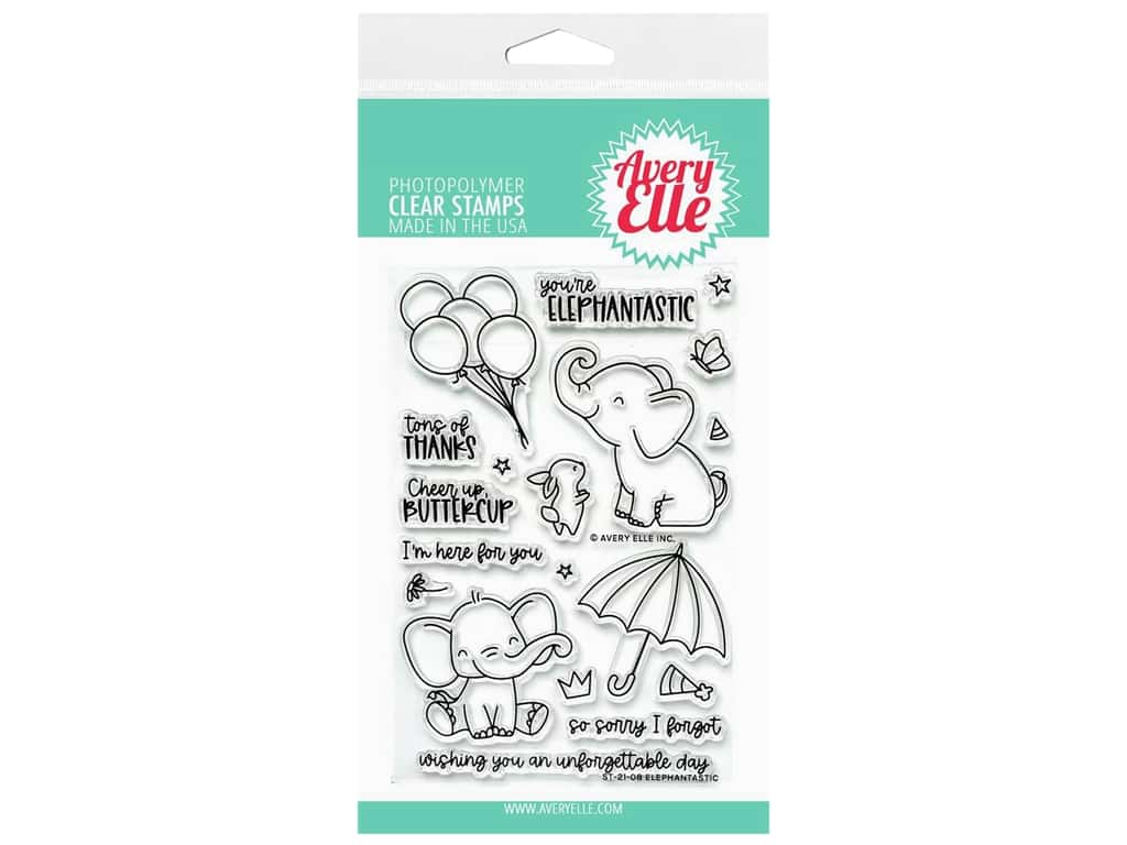 Avery Elle Clear Stamp Elephantastic