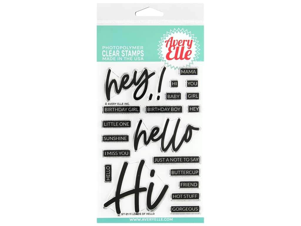 Avery Elle Clear Stamps - Loads of Hello