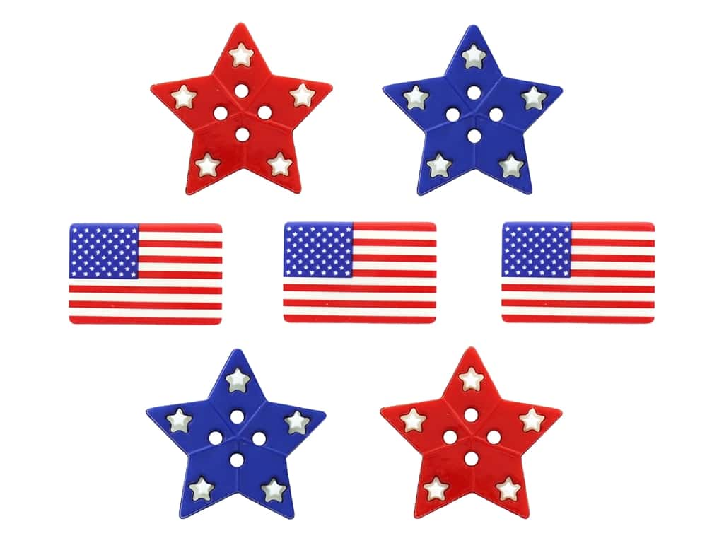 Jesse James Embellishments - Patriotic Shapes
