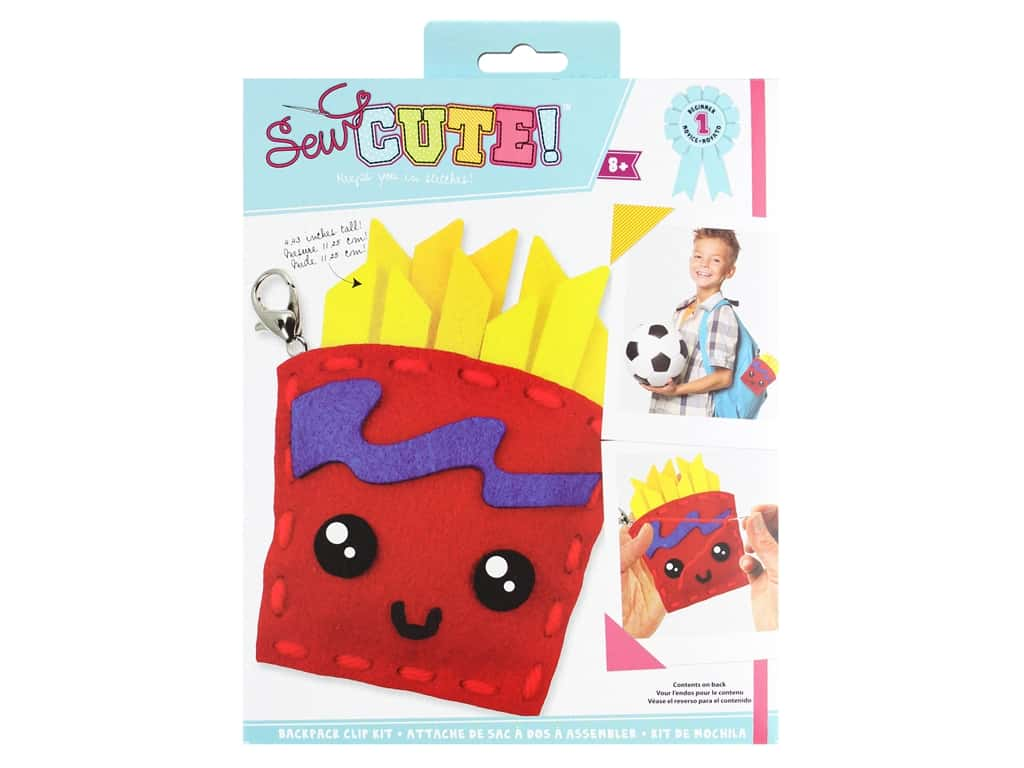 Colorbok Sew Cute! Backpack Clip Kit - French Fries