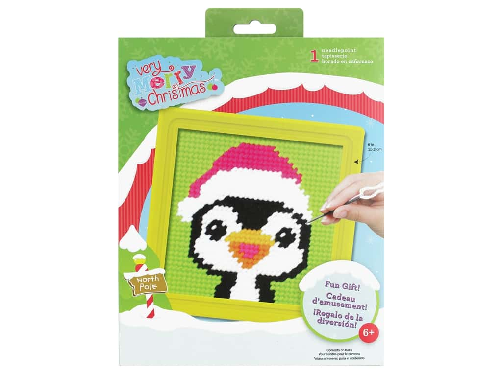 Colorbok Sew Cute! Needlepoint Kit - Peppermint