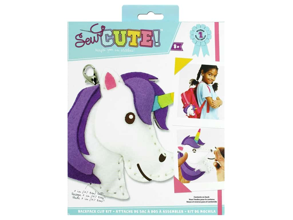 Colorbok Sew Cute! Backpack Clip Kit - Unicorn