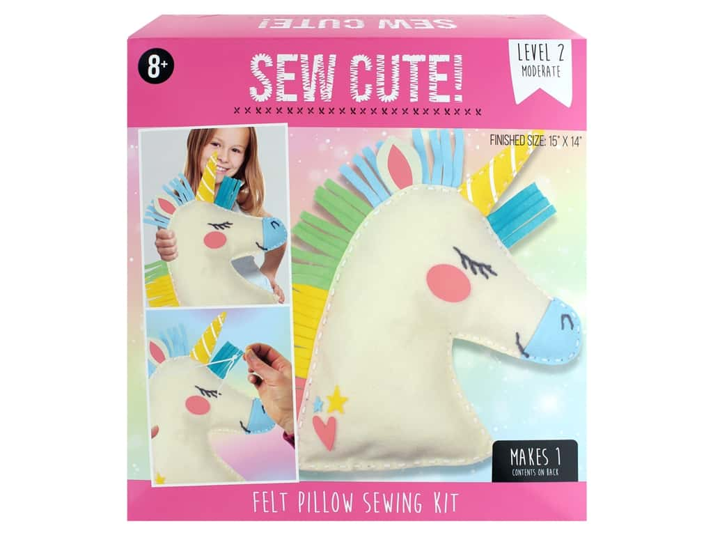 Colorbok Sew Cute! Felt Pillow Sewing Kit - Unicorn