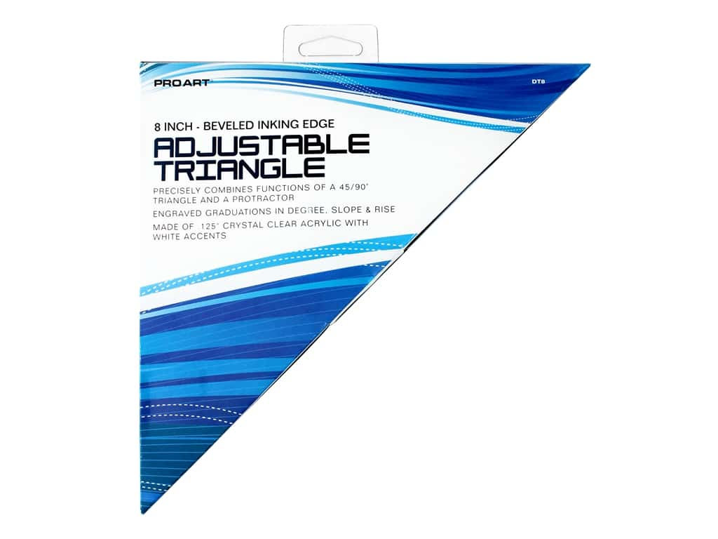 Pro Art 8 in. Adjustable Triangle with Magnifier