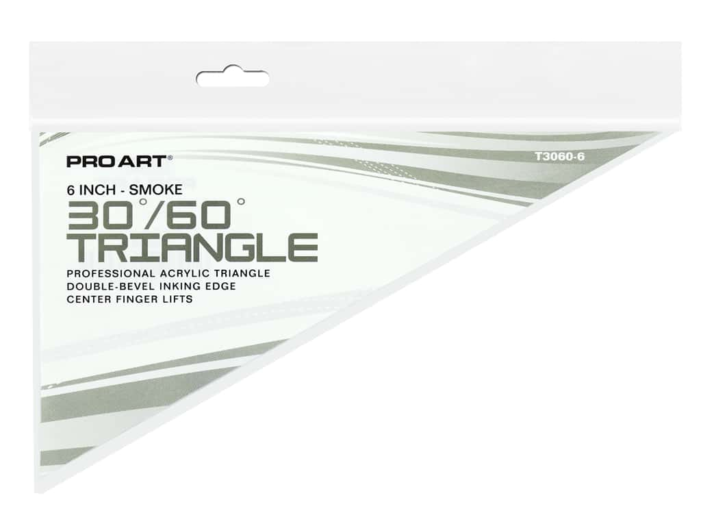 Pro Art Triangle 6 in. With Ink Edge & Finger Lift 30/60 Smoke