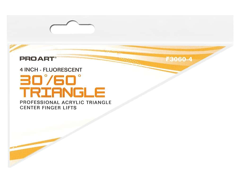 Pro Art Triangle 4 in. With Finger Lift 30/60 Fluorescent